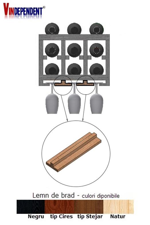 Componenta T pentru suport pahare