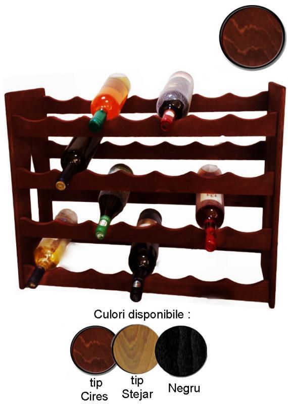 Raft lemn 28 sticle vin
