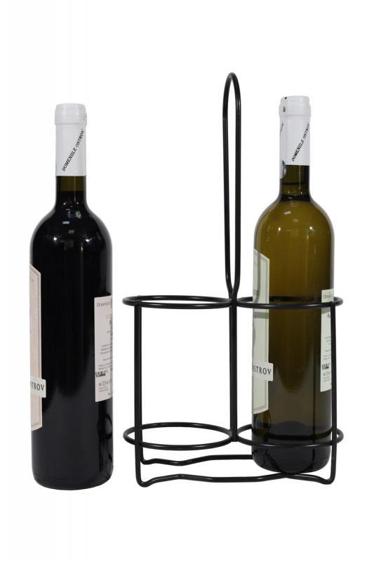 Suport metalic 2 sticle vin
