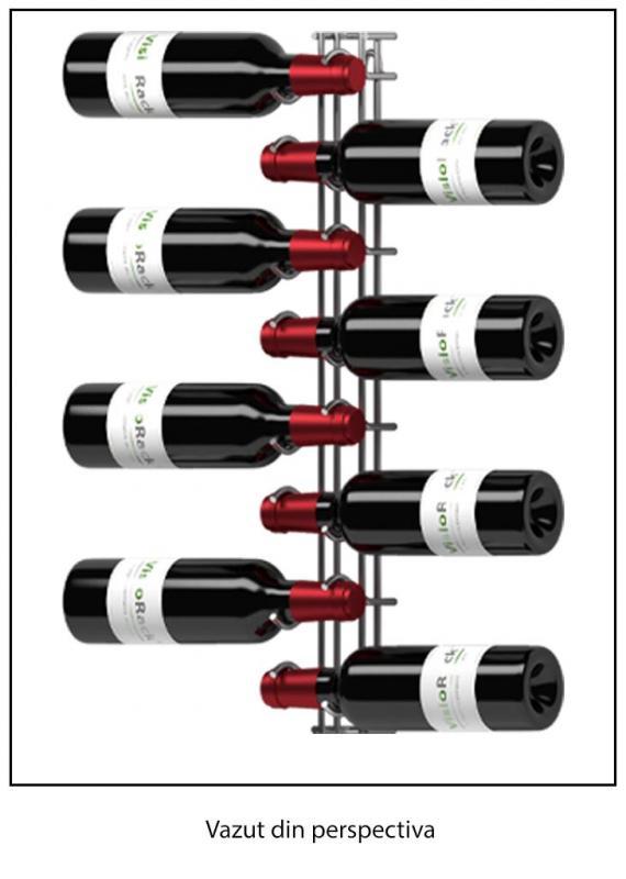 Suport cromat 8 sticle vin