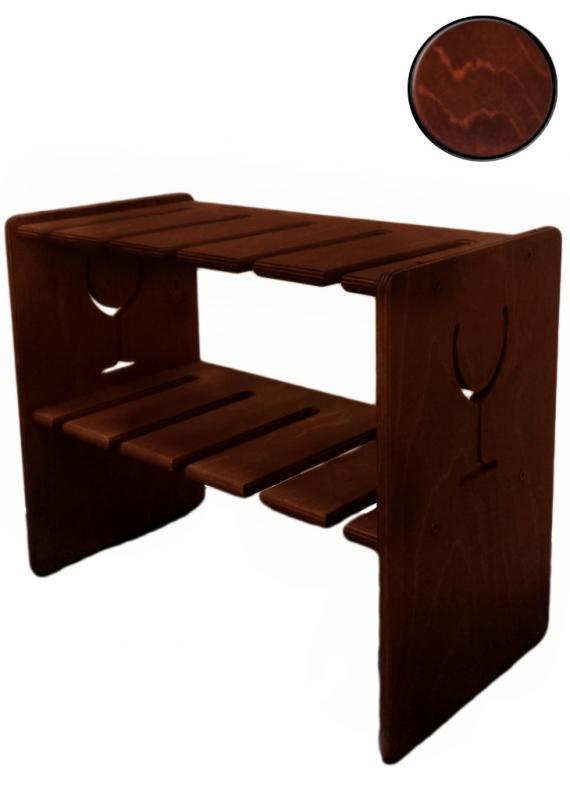 Suport din lemn pentru pahare