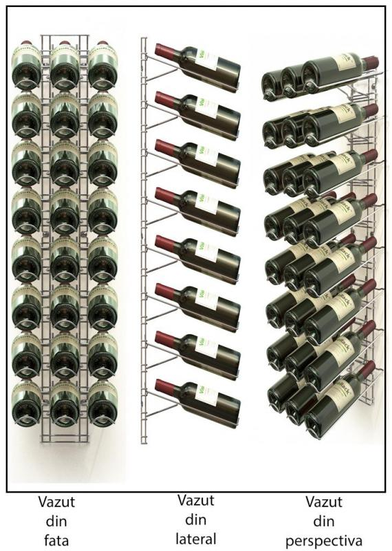 Suport metalic cromat 24 sticle