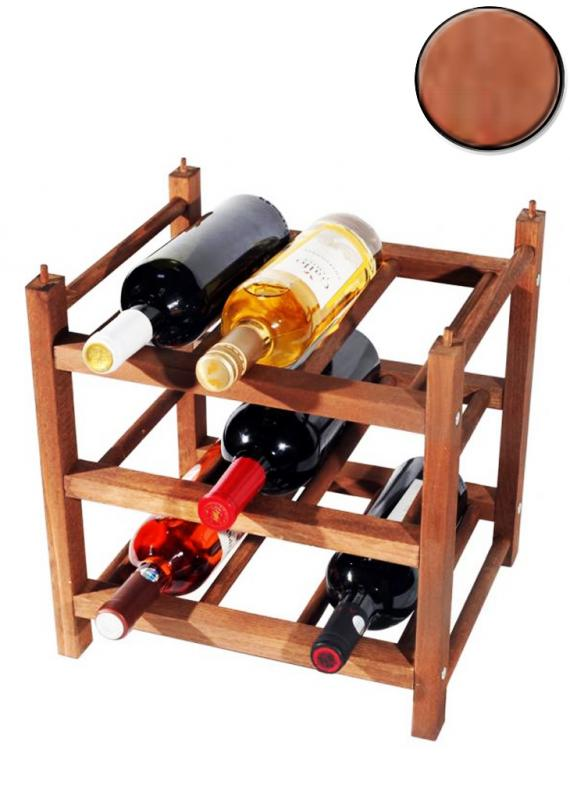 Raft lemn baituit 9 sticle Clever