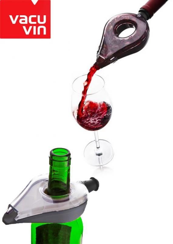 Aerator plastic gri Vacu Vin