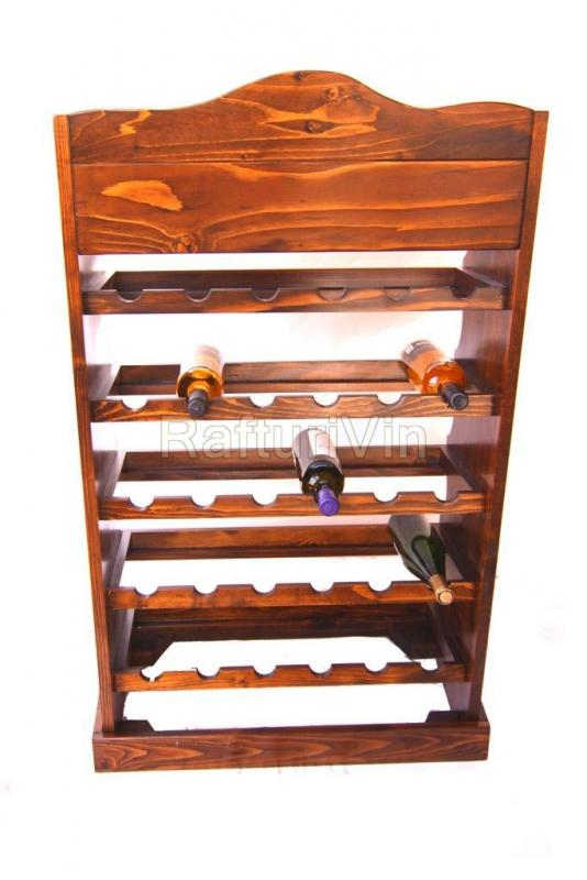 Raft lemn cu roti 30 sticle