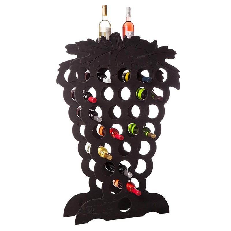 Raft Grappino negru 27 sticle vin