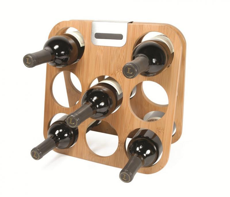Suport 8 sticle lemn