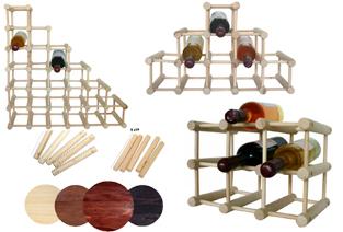 rafturi modulare lemn, rafturi sticle vin, rafturi lemn lucrat manual