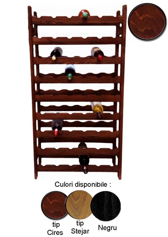 Raft lemn 54 sticle vin