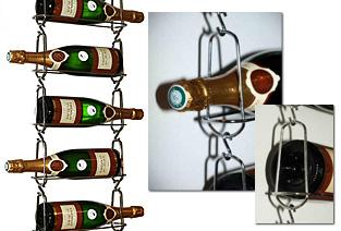 rafturi vin, cos sticla vin, suport sticla vin, sistem sustinere lant