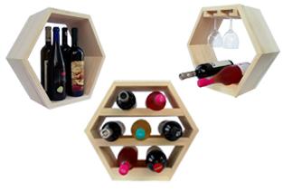 rafturi de vin hexagonale