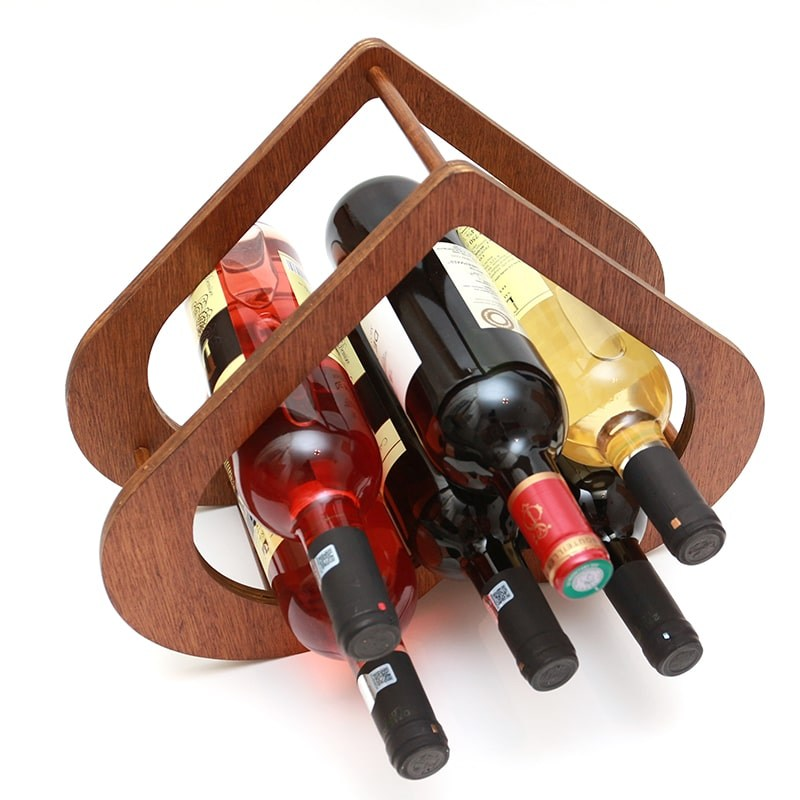 Raft forma inima 6 sticle vin