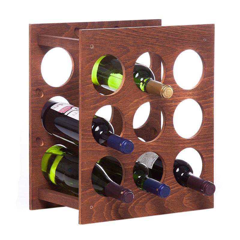Raft Wine House patrat maro 9 sticle vin
