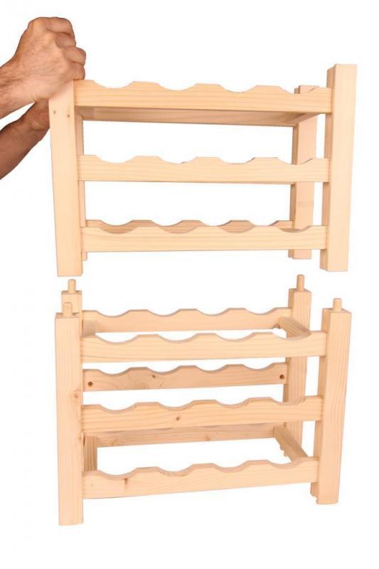 Raft VinO din lemn 12x4 - 48 de sticle