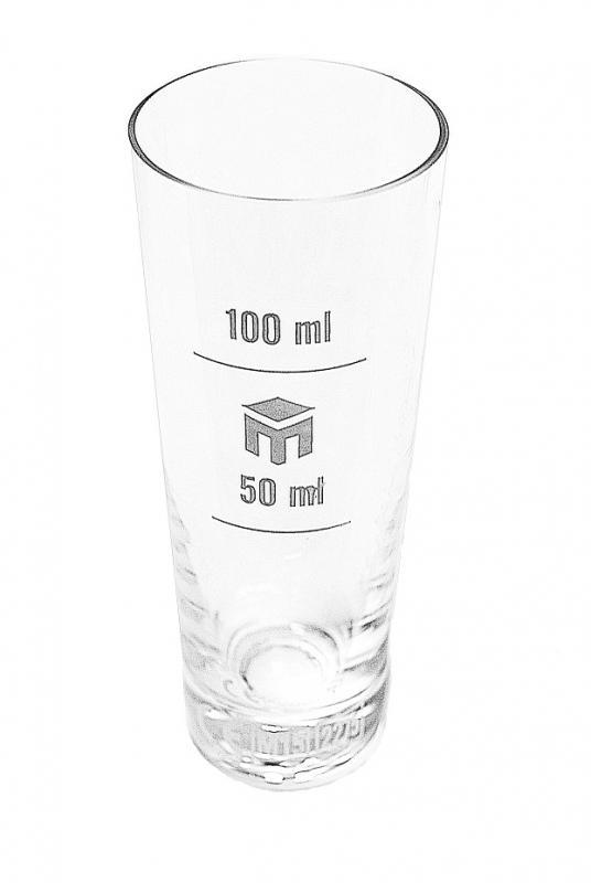Pahar din sticla gradat 50/100ml
