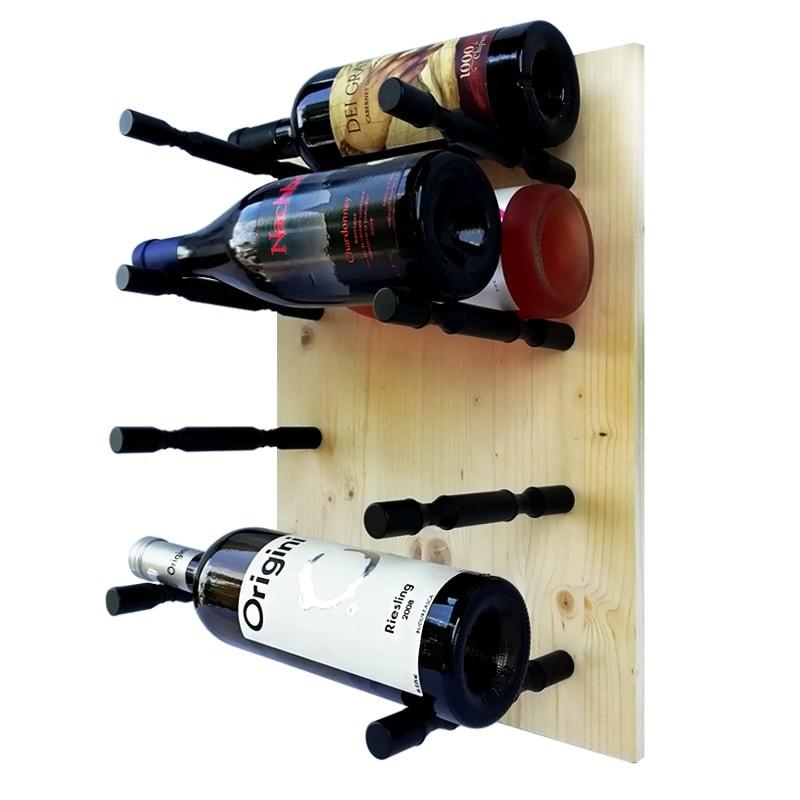 Set suporti negri dubli 8 sticle vin