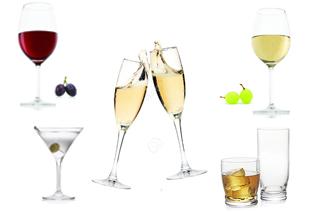 pahare,sticla,horeca,sampanie,vin alb, vin rosu, cocktail