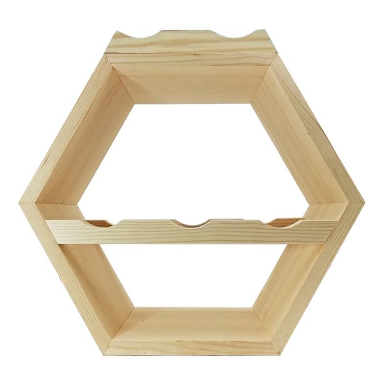 Raft hexagonal 5 sticle vin si suport exterior