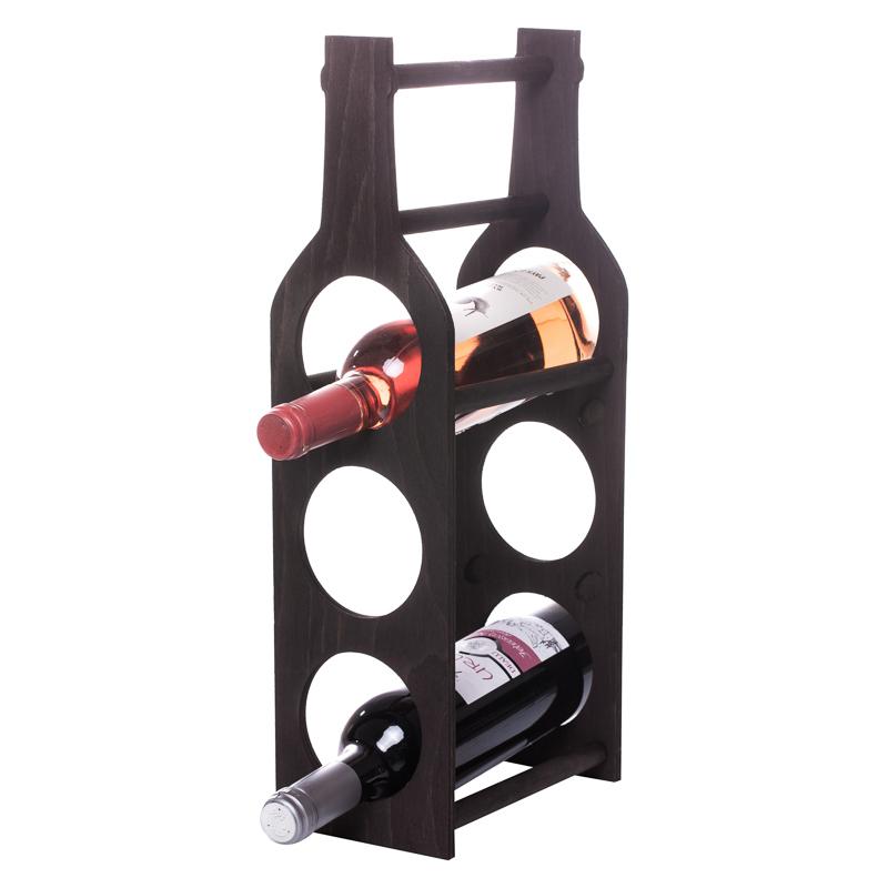 Raft Wine House negru 3 sticle vin
