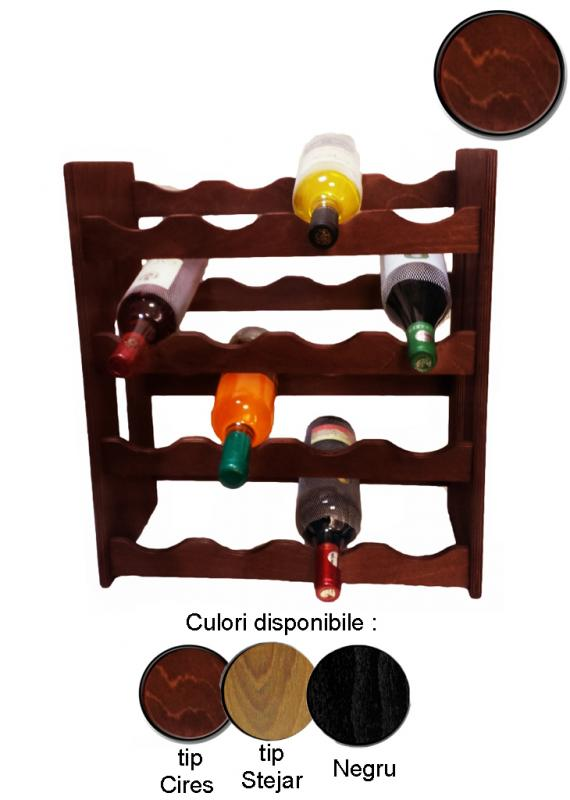 Raft lemn 16 sticle vin