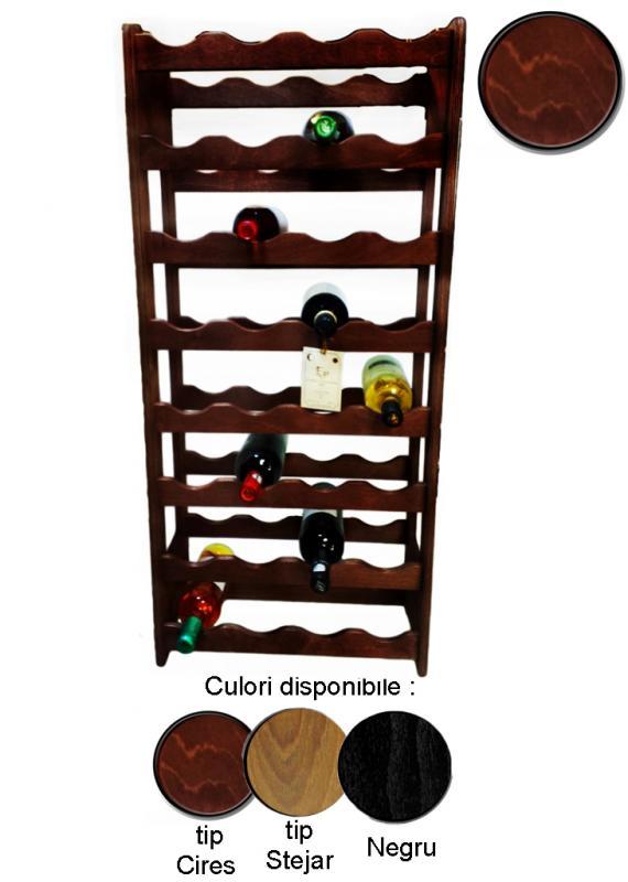 Raft lemn 32 sticle vin