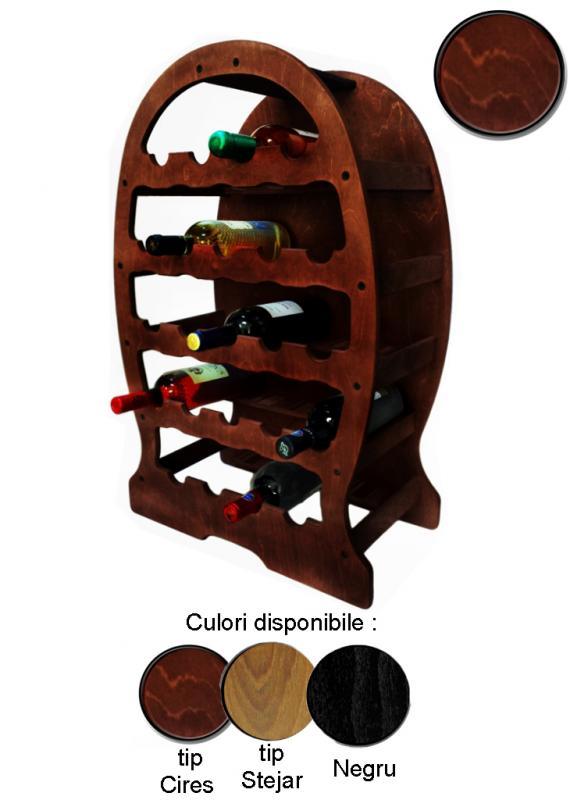 Raft lemn 23 sticle vin