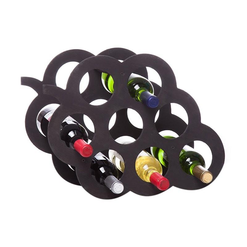 Raft Grappino negru 8 sticle vin